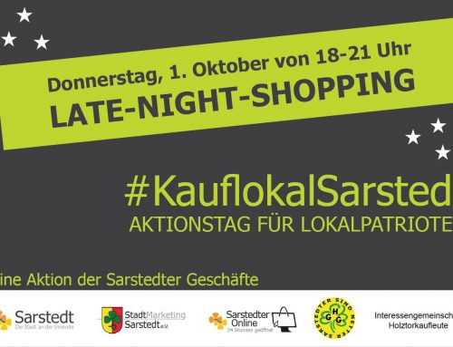 Late-Night-Shopping in Sarstedt am 1. Oktober 2020