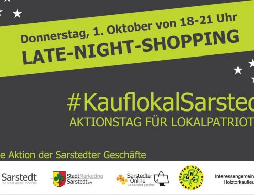 Late night shopping in Sarstedt on October 1, 2020
